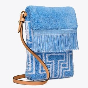 $128 Tory Burch Terry Towel Phone Cross Body Bag